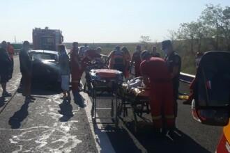 VIDEO. Accident grav pe Autostrada Soarelui. Nouă persoane au fost rănite