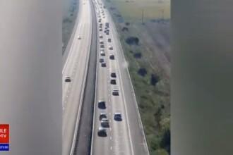 VIDEO. Trafic intens pe autostrada A2, spre litoral. Pe anumite tronsoane se circulă în coloană