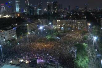 Mii de israelieni au protestat la Tel Aviv. Ce critici aduc guvernului