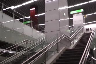 Imagini cu staţia de metrou Romancierilor, de pe magistrala Drumul Taberei. VIDEO