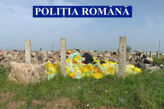 Risc biologic uriaș. Sute de tone de materiale sanitare periculoase provenite de la spitale, abandonate pe câmp