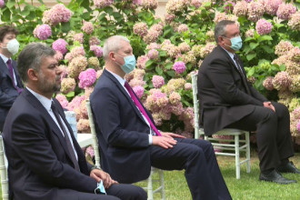 Ciolacu a fost singurul politician fără mască la recepția organizată la Ambasada Franței