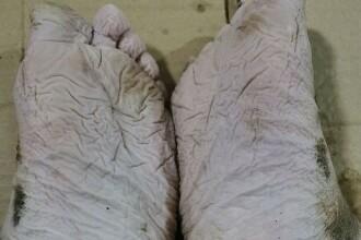 Cum arată picioarele unui pompier care a muncit 30 de ore, pentru a salva victimele inundațiilor din China. FOTO