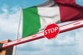 Italia a extins carantina de 14 zile pentru persoanele care intră în ţară din Bulgaria şi România