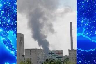 Incendiu puternic în sectorul 4 al Capitalei. Fumul se vede de la mare distanță