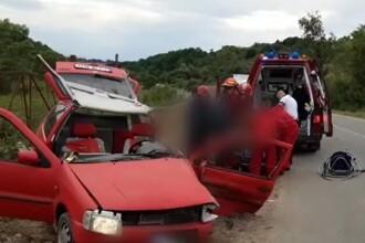 Impact violent după ce un șofer de 62 de ani a intrat pe contrasens, în Cluj