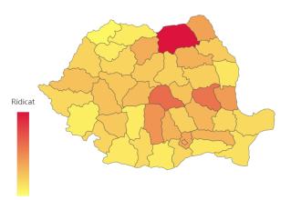 Județele în care s-a depășit pragul de 1.000 de cazuri de infectare cu Covid-19