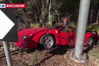VIDEO. Un Ferrari în valoare de peste 2 milioane de dolari, distrus complet într-un accident