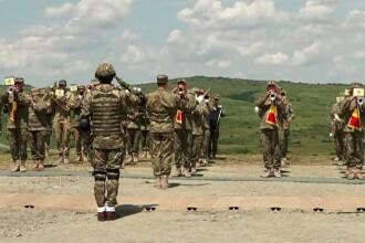 Ceremonie importantă la poligonul de la Cincu, cu ocazia înființării Corpului Multinaţional Sud-Est