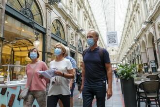 Masca de protecţie, obligatorie şi pe stradă în Belgia, după creşterea numărului de infectări