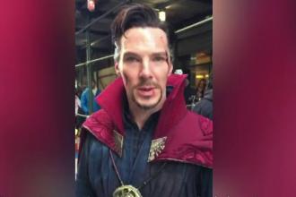 "Benedict Cumberbatch a vizitat un magazin de benzi desenate costumat în ""Doctor Strange"""