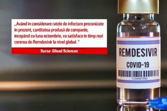 Numărul îmbolnăvirilor crește dramatic. România are doar câteva sute de doze din cel mai eficient medicament anti-Covid
