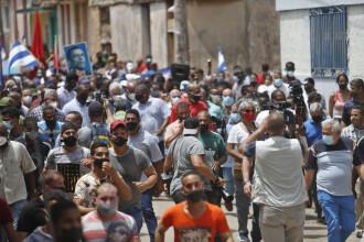 """Conexiunea la internet, întreruptă în Cuba. SUA cere """"respectarea vocii poporului"""""""