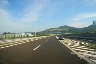 Un șofer a fost filmat circulând pe contrasens pe A1 Lugoj-Deva