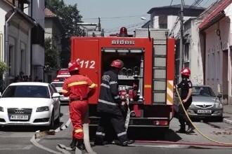 Alertă în Târgu Mureș. Un incendiu puternic a izbucnit în centrul orașului