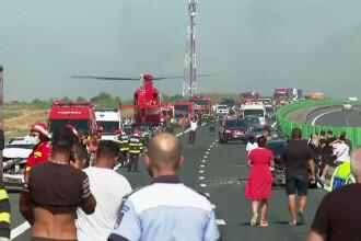 """Cauza carambolului de pe A2. Șofer: """"Mergeam cu 90 de km/h şi dintr-o dată am văzut numai lumini roşii"""""""