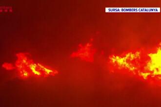 Incendii de vegetație în Spania. În Catalonia au ars peste 400 de hectare de Parc Național