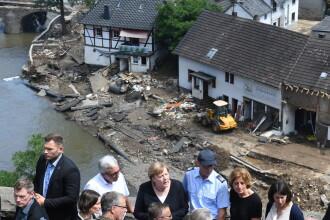 """Merkel, despre inundaţii: """"Este îngrozitor. Limba germană abia dacă poate descrie devastarea"""""""