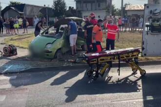 Un șofer de 84 de ani a fost rănit grav într-un accident pe care l-a provocat