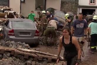 """Zeci de români au fost surprinsi în mijlocul inundațiilor devastatoare din Germania: """"Mulți au pierdut totul"""""""