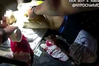 Un polițist a salvat viața unei victime înjunghiate folosindu-se de o pungă și bandă izolatoare. VIDEO