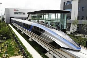 China a prezentat un tren care merge cu 600 km/h VIDEO & FOTO