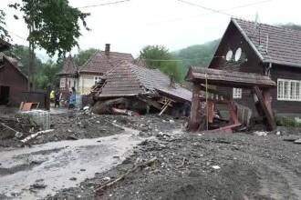 Coșmar pentru locuitorii din comuna Ocoliș, județul Alba. Viitura i-a lovit a doua oară în câteva zile