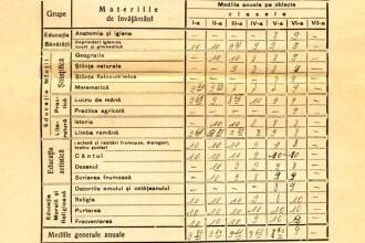 """Ce materii se studiau în școlile din România în 1940. Poza devenită virală: """"Această foaie calificativă a bunicii mele…"""""""