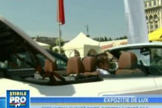 Expozitie de lux cu masini de sute de mii de euro, in Bucuresti