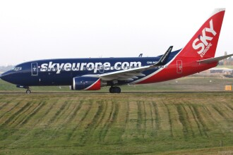 Aeronava SkyEurope a decolat de la Bucuresti spre Viena, dar fara pasageri