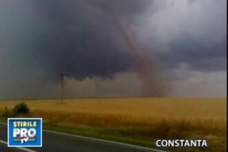 Furtunile fac ravagii in Romania. Grindina mai mare decat oul de gaina!