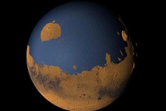 O treime din suprafata planetei Marte, acoperita candva de oceane