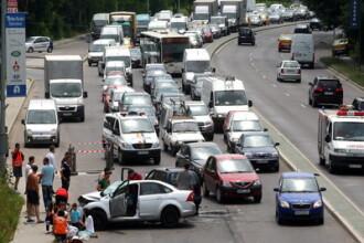 Un accident cu 6 raniti a blocat traficul pe DN1, la Otopeni