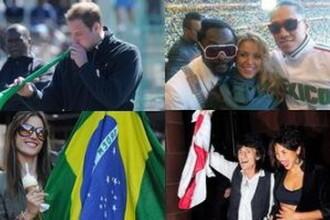 Celebritati cuprinse de febra Cupei Mondiale de fotbal