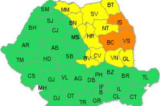 Potop! Cod portocaliu in Moldova. Cod galben in Transilvania si Maramures