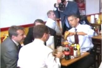 Ca-n Doamna si Vagabondul:Obama si Medvedev au impartit o portie de cartofi