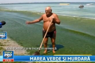 VIDEO. Solutia romaneasca pentru a curata Marea Neagra de alge: Omu' cu lopata