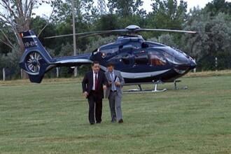 Vanghelie a coborat din ceruri. Primarul sectorului 5 s-a dus la nunta din Buzau cu elicopterul