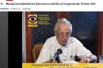 Taranistii digitali. La aproape 95 de ani, Ion Diaconescu cheama PNTCD-ul la congres, de pe YouTube