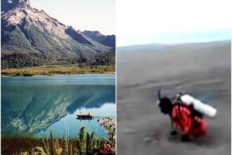 Video inspaimantator. Cum arata un lac acoperit cu 1 metru de cenusa venita, parca, din iad