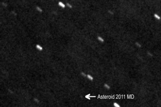 Primele imagini cu asteroidul gigant care a trecut pe langa Pamant. GALERIE FOTO