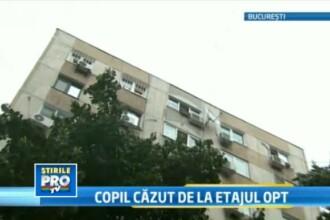 Tragedie de 1 iunie. Un baiat de 11 ani din Bucuresti a cazut de la etajul 8. E in coma la spital