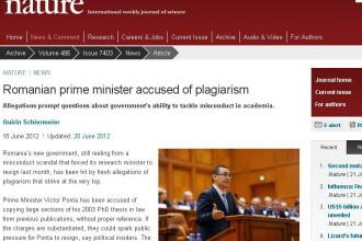 Nature publica raspunsul Guvernului privind acuzatia de plagiat si remarca greseli de limba engleza