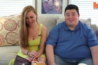 Cuplul care atrage toate privirile. O fosta anorexica se marita cu un barbat de 190 de kilograme
