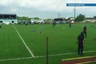 Unul dintre cei mai temuti interlopi din Timisoara, retinut in timpul unui meci de fotbal. VIDEO
