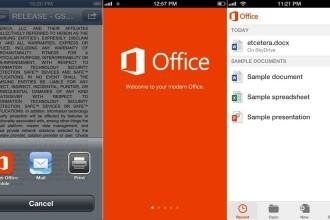 Microsoft Office a fost lansat oficial pentru iPhone