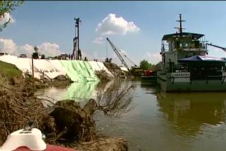 Nivelul Dunarii continua sa creasca. Digul de pe bratul Borcea nu este pregatit pentru o viitura