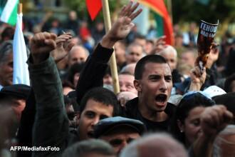 Ancheta a televiziunii nationale bulgare BNT: un partid a platit mai multi oameni ca sa protesteze