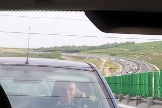Exodul de Rusalii. Coada kilometrica pe Autostrada Soarelui, pe sensul de mers catre Bucuresti