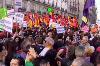 Mii de oameni au manifestat la Madrid impotriva monarhiei. Spaniolii, impartiti in doua dupa abdicarea lui Juan Carlos